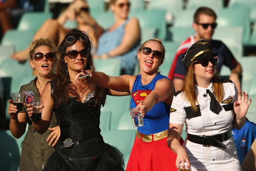 Sydney sevens fans fancy dress