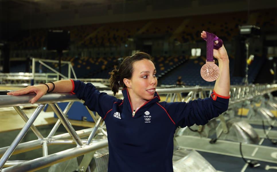 Beth Tweddle medal shoot