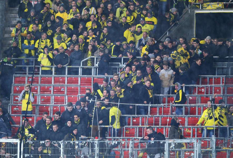 Dortmund football protest