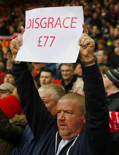 Liverpool protest disgrace