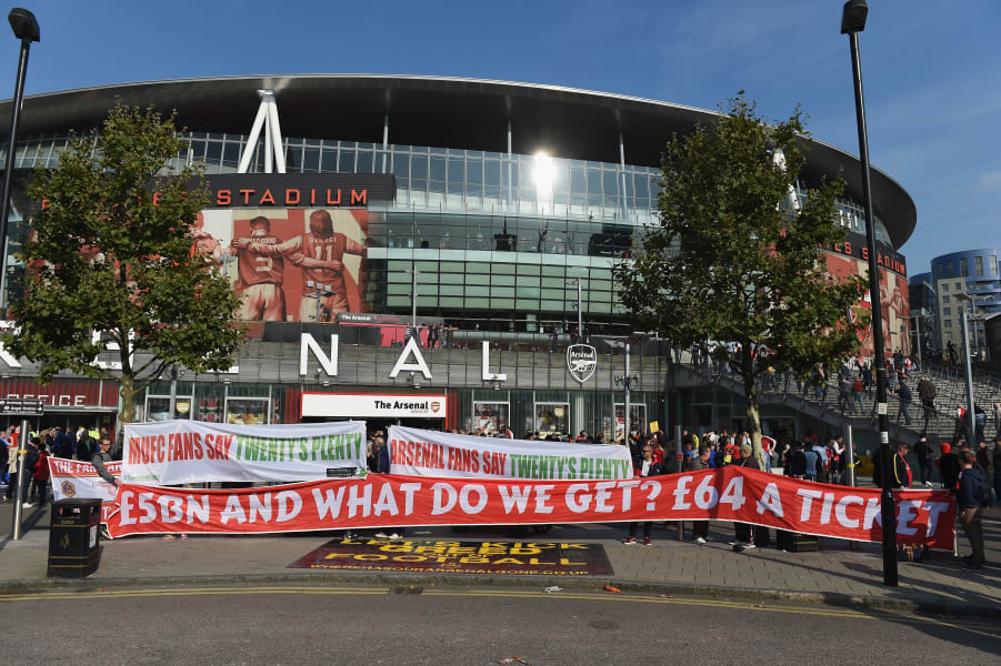 Arsenal fans ticket protest