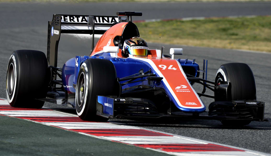 manor formula one car 2016