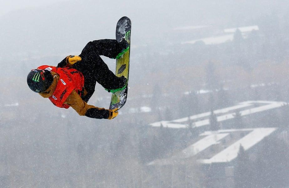 Taylor Gold snowboard halfpipe