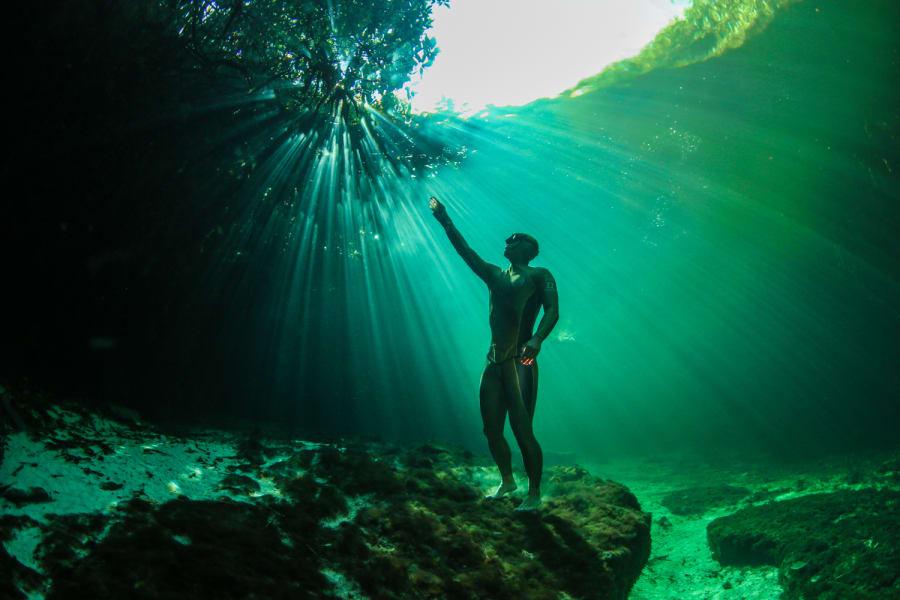 freediving green