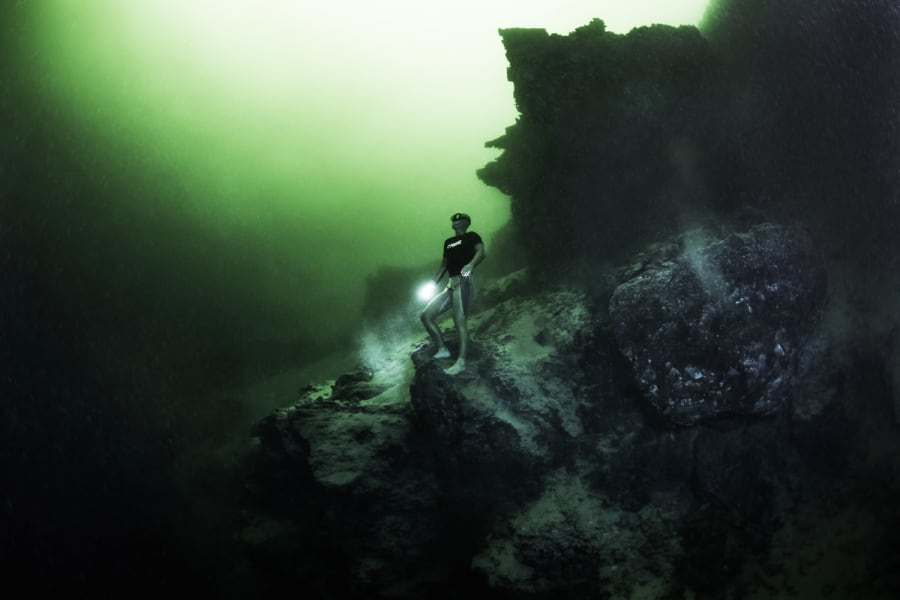 freediving gallery green torch 2