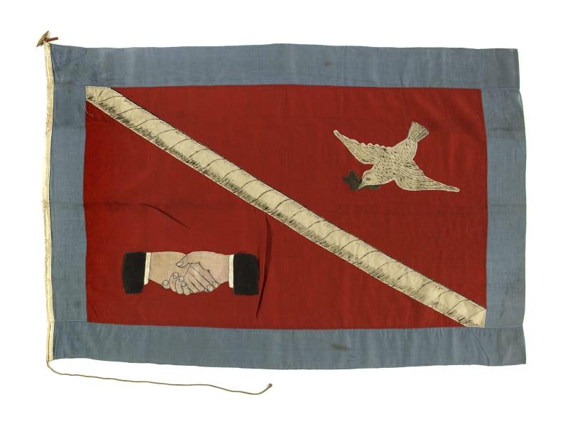 maritime museum flag hands bird