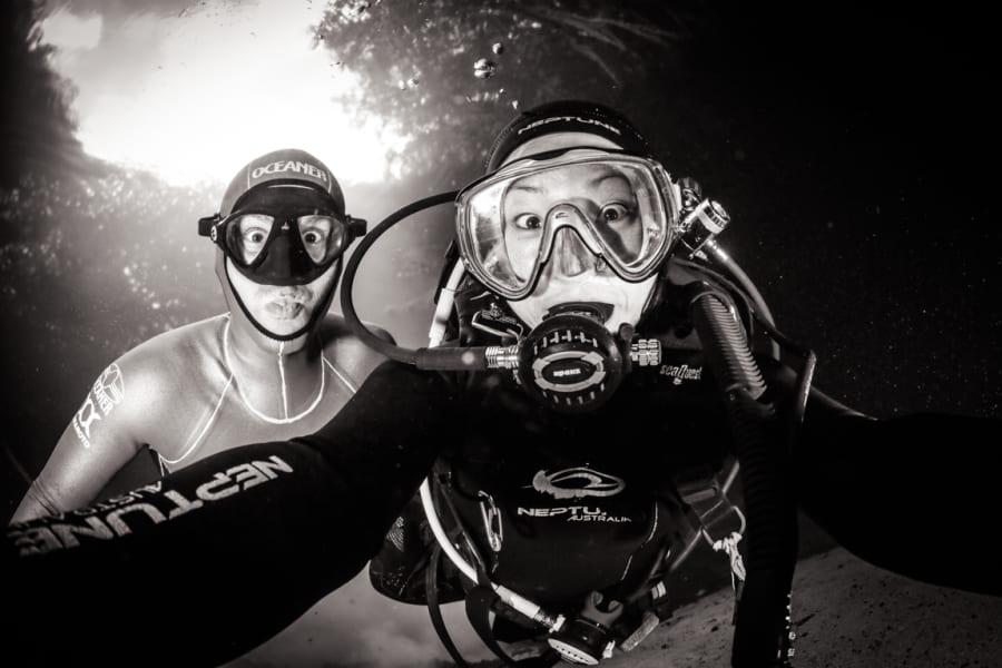 freediving selfie