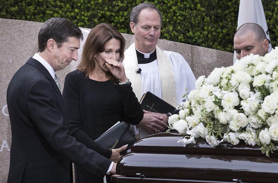 16 nancy reagan funeral - RESTRICTED