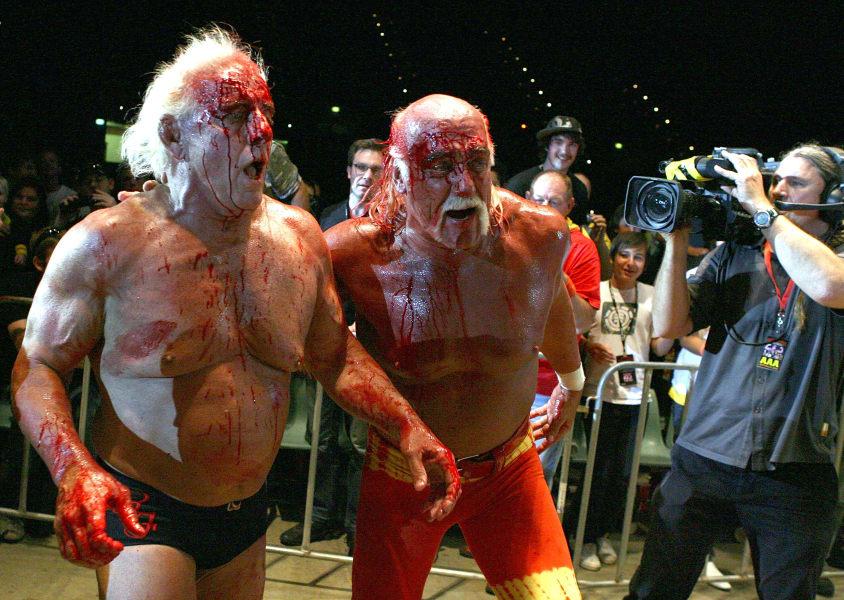 Hulk Hogan and Rick Flair