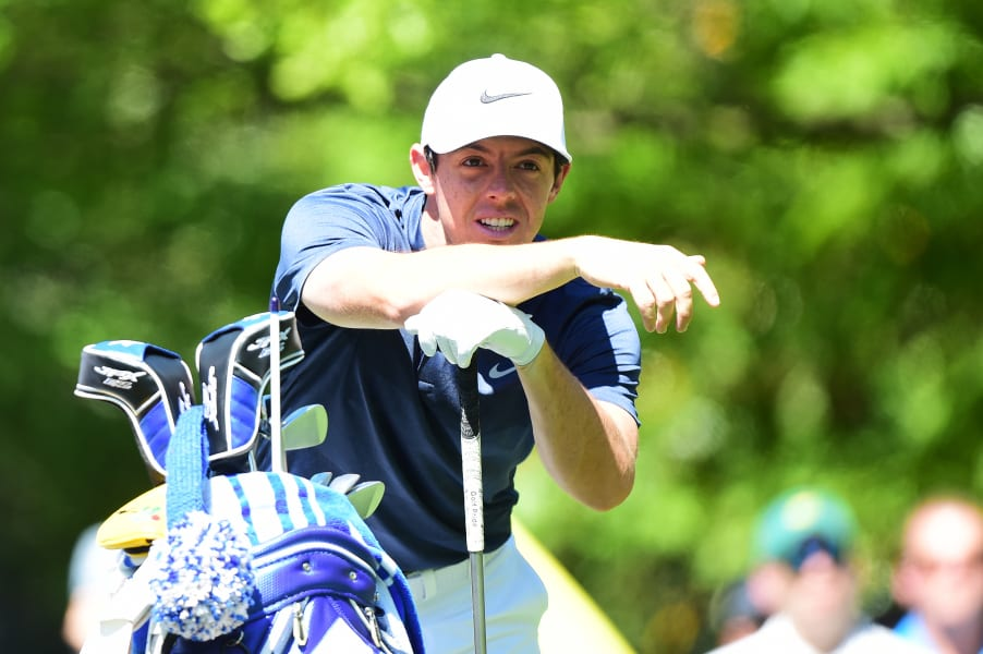 Rory McIlroy Matsers Augusta practice