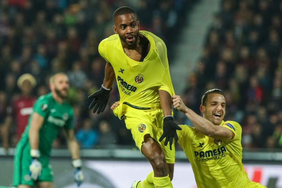 Villarreal celebrate goal Europa league