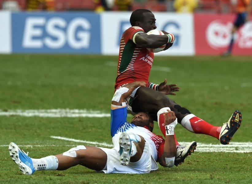 Kenya's Collins Injera rugby sevens