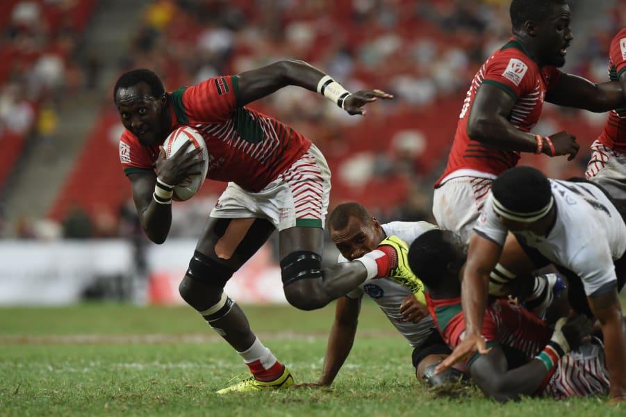 Kenya's Samuel Oliech rugby sevens