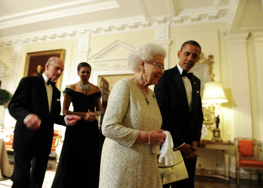 Obamas and Queen Elizabeth II