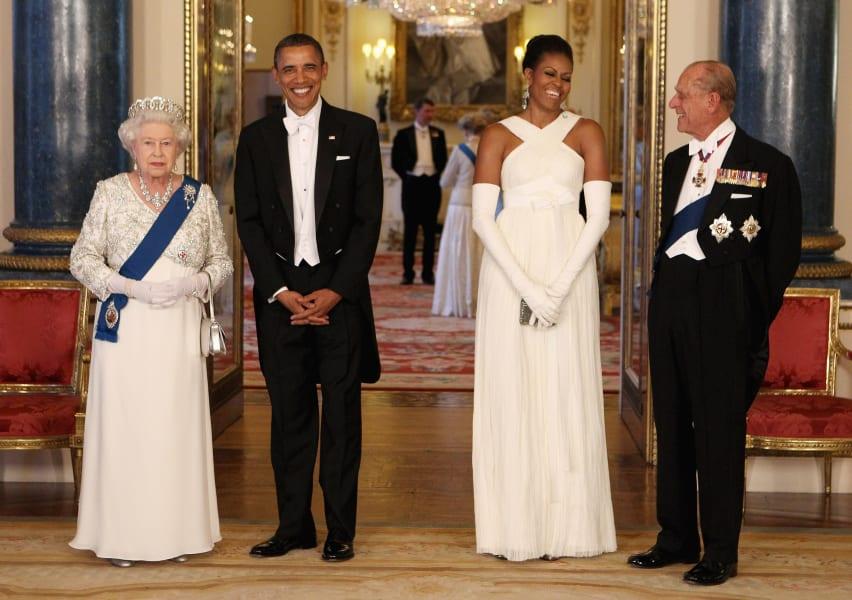 Queen Elizabeth II and Barack Obama