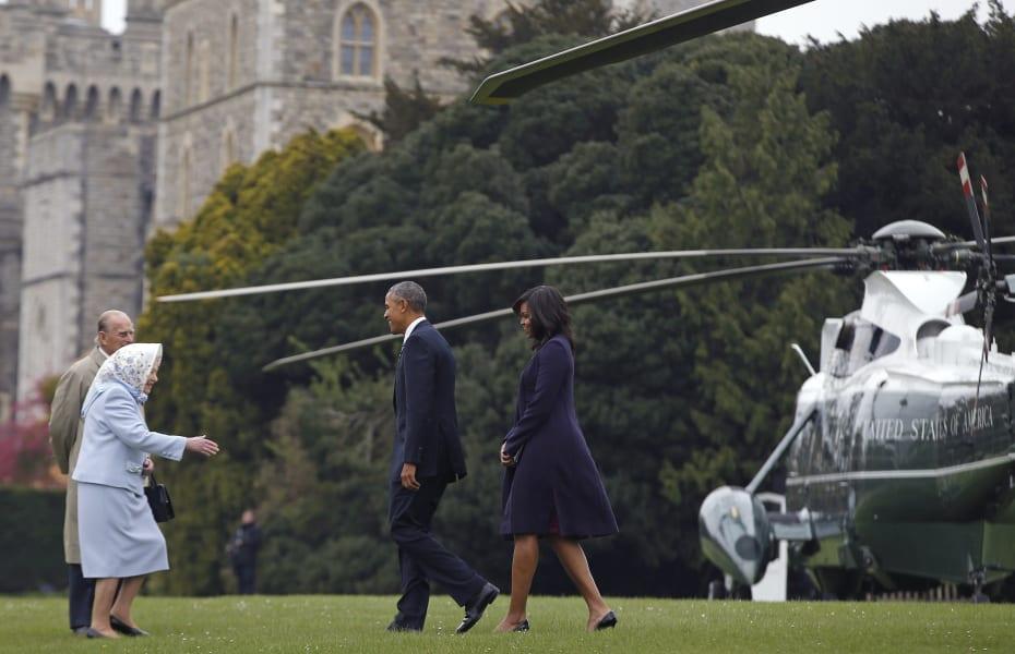 Obama arives in England April 22, 2016