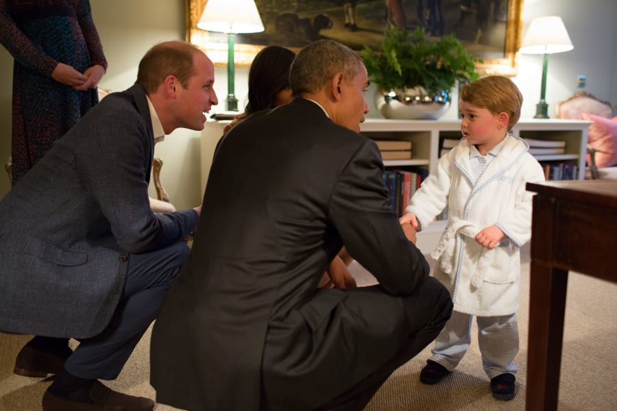 Obama meets Prince George