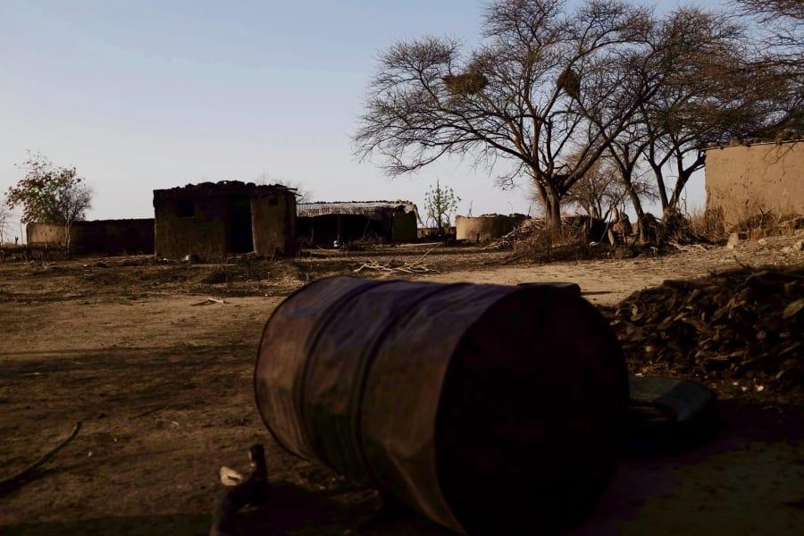 Nigeria mafa burned out village