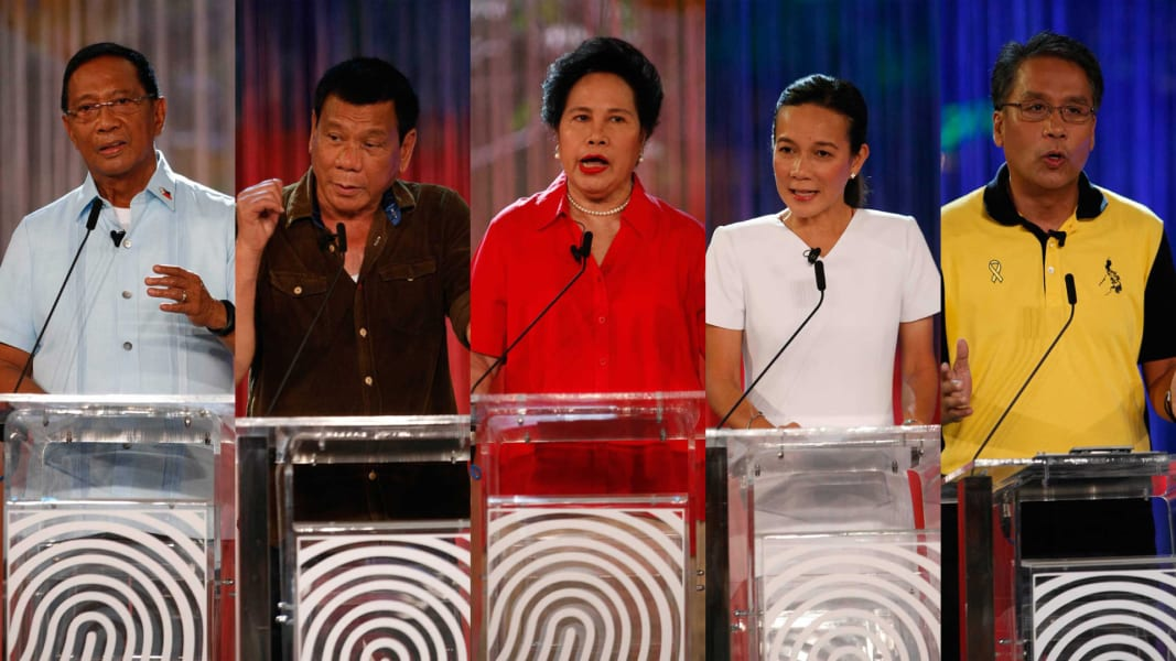 Philippines election candidates