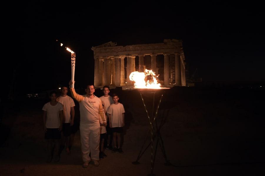 Rio 2016 Olympics tourchbearer Pyros Dimas
