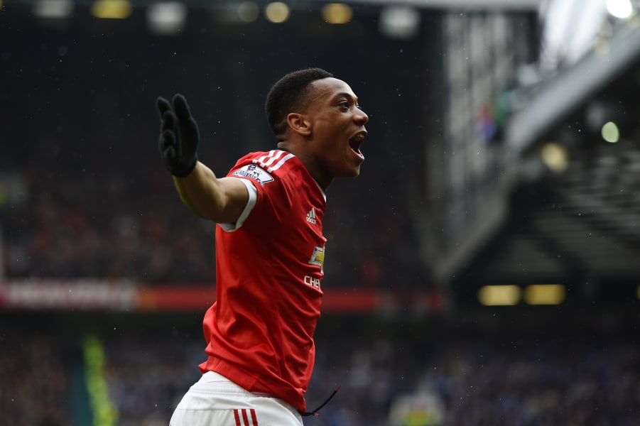 Martial Leicester Manchester United