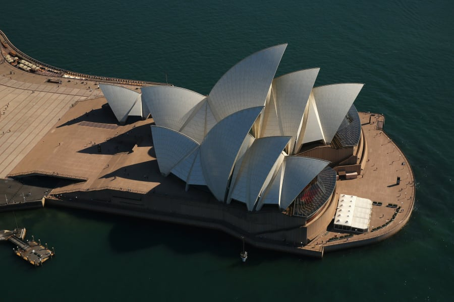 sydney from the air opera house