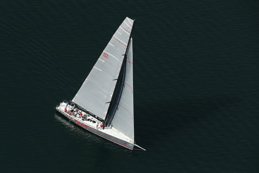 sydney from the air manly beach yacht pittwater