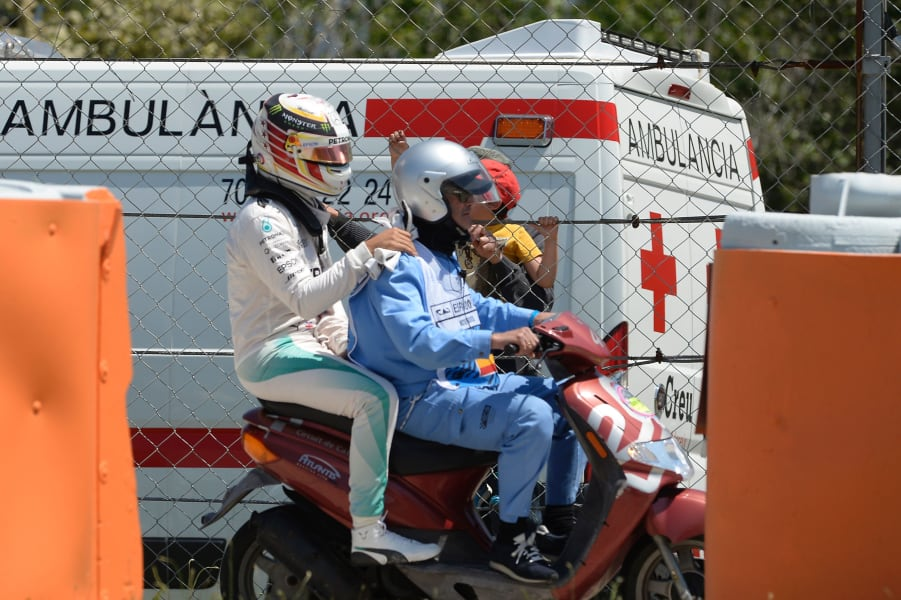 Spanish GP Hamilton scooter