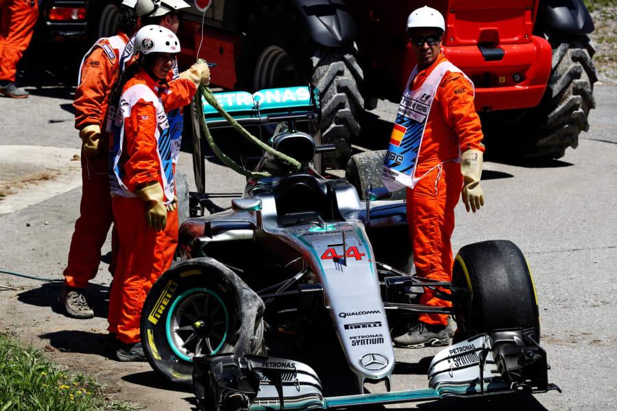 Spanish GP Hamilton car