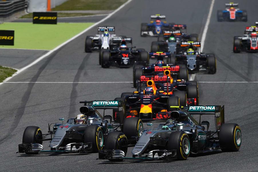 Spanish GP Rosberg Hamilton