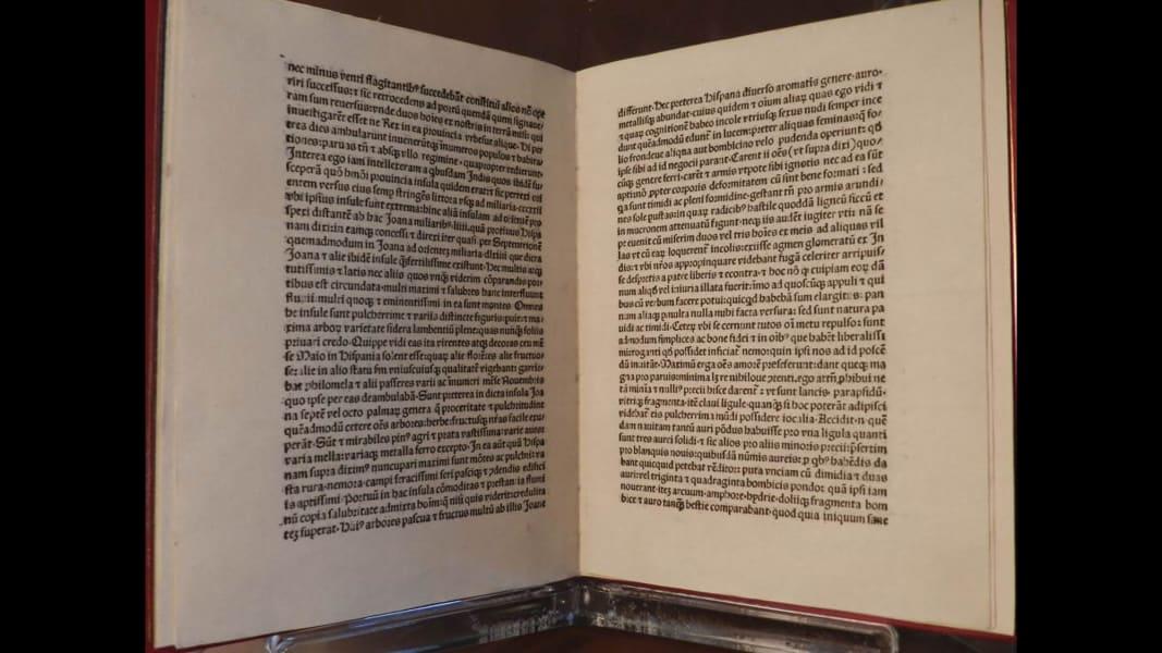 Christopher Columbus Letter To King Ferdinand.U S Returns 1493 Christopher Columbus Letter To Italy