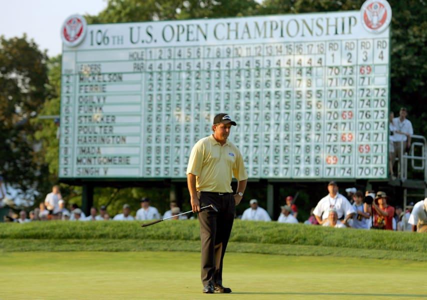 Phil Mickelson 2006 US Open scoreboard