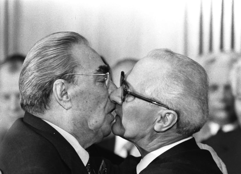 Brezhnev Honecker kiss