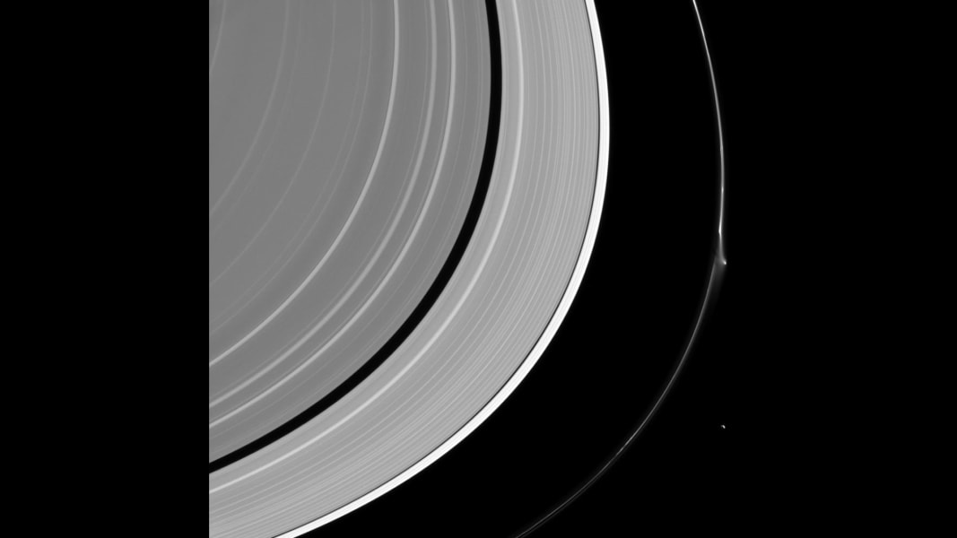 Saturn ring disruption