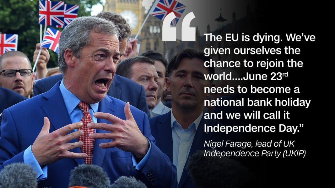 Quote graphic Nigel Farage