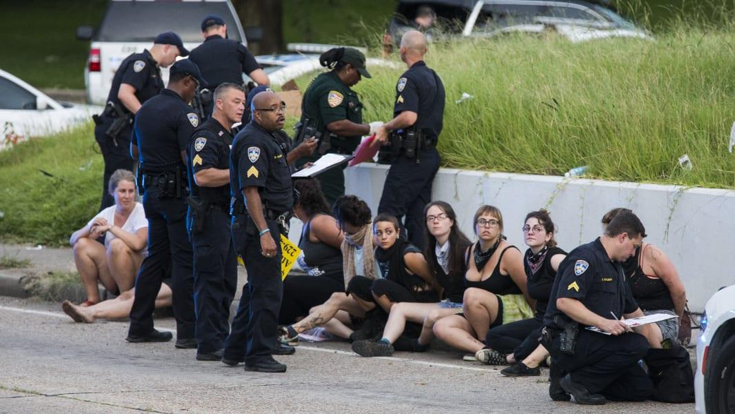 Baton Rouge protest arrest 0710
