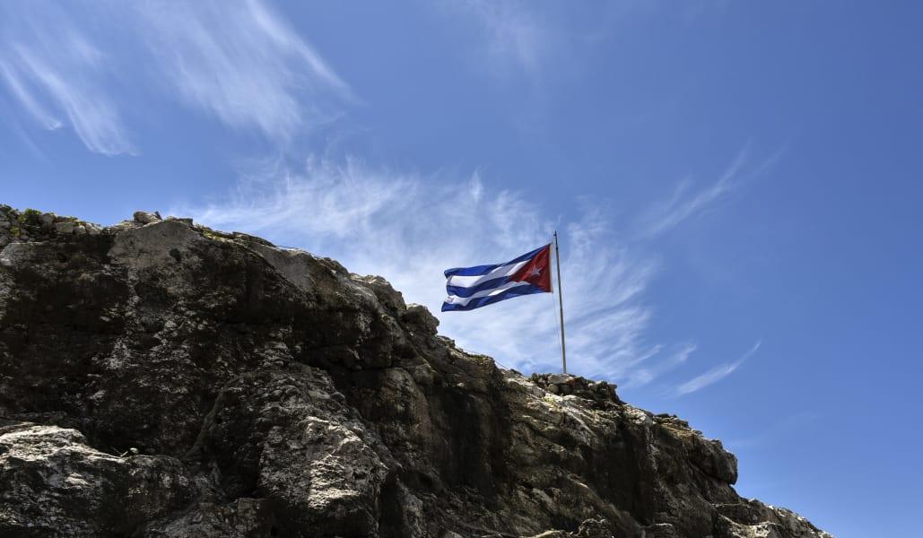 cuba flag rock