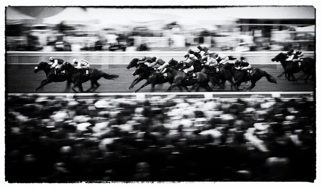 Ascot races 2016 black and white