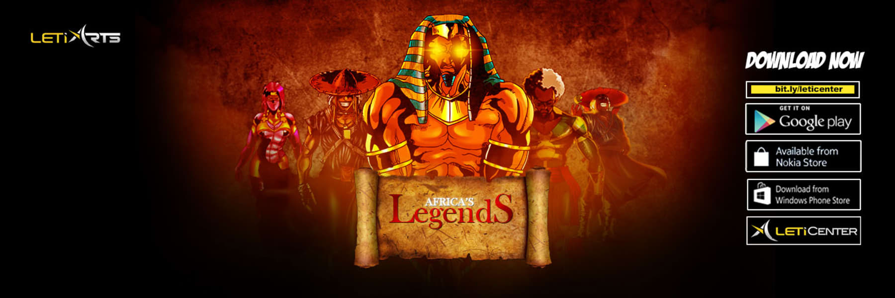 Leti Arts Africa legends banner