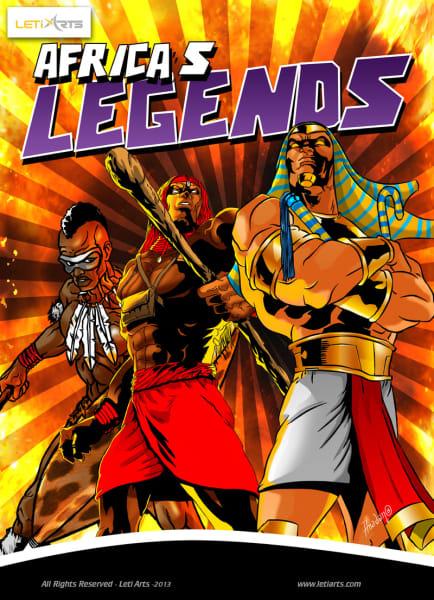 Leti Arts Africas Legends poster
