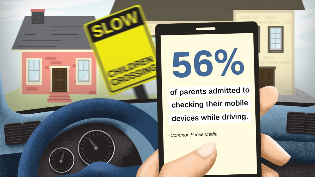 distracted driving graphic one