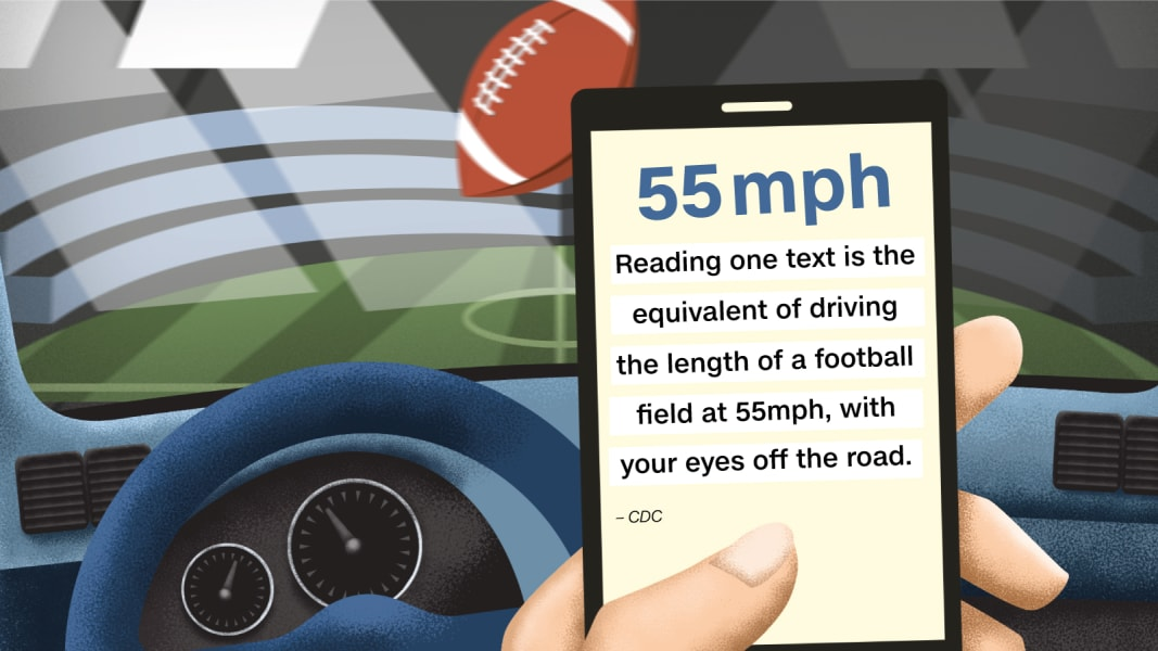 distracted driving graphic two