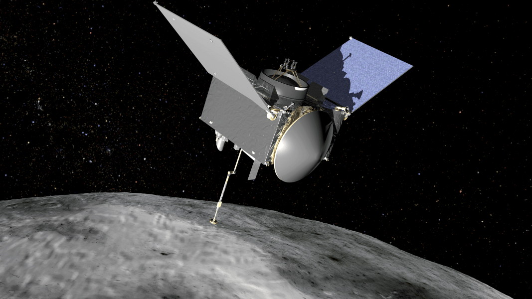 OSIRIS REx spacecraft at Bennu