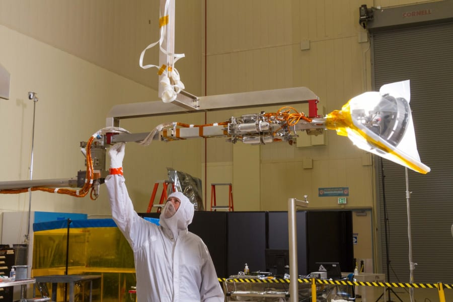 OSIRIS REx sample return arm test