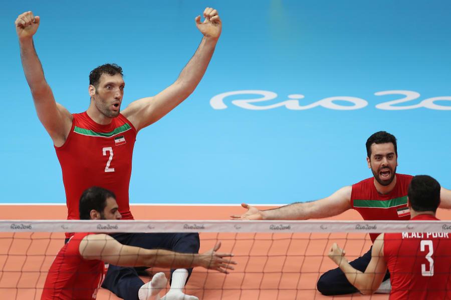 Morteza Mehrzadselakjani sitting volleyball Rio point