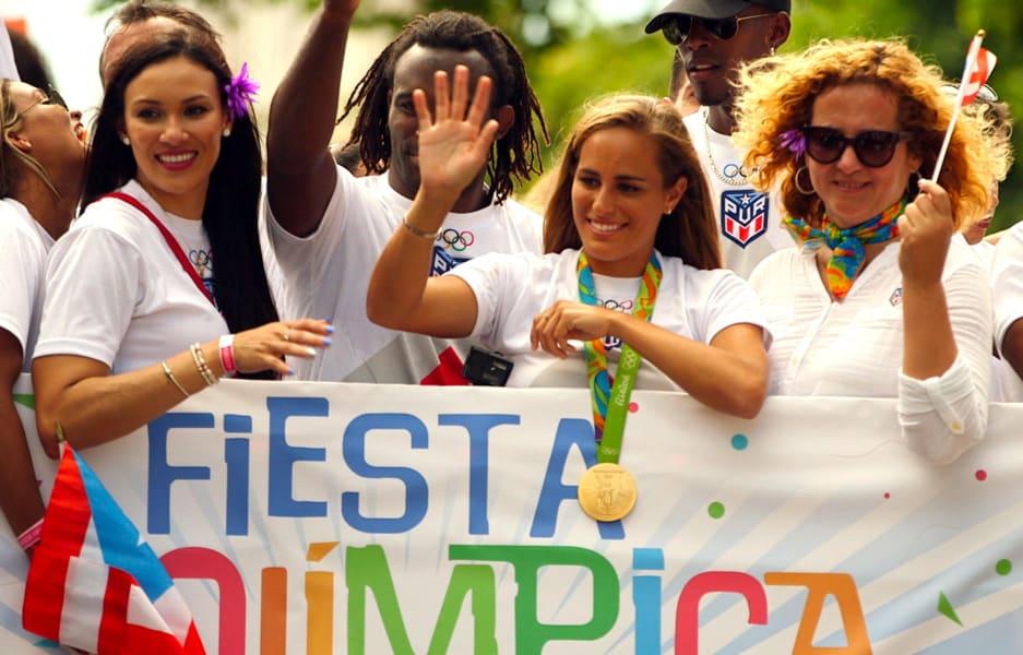 monica puig puerto rico parade