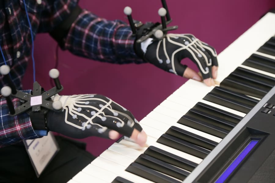 on japan wearable tech piano