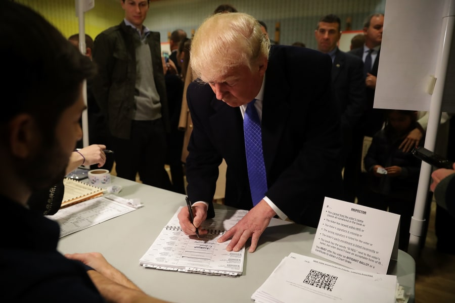 19 election day Donald Trump 1108
