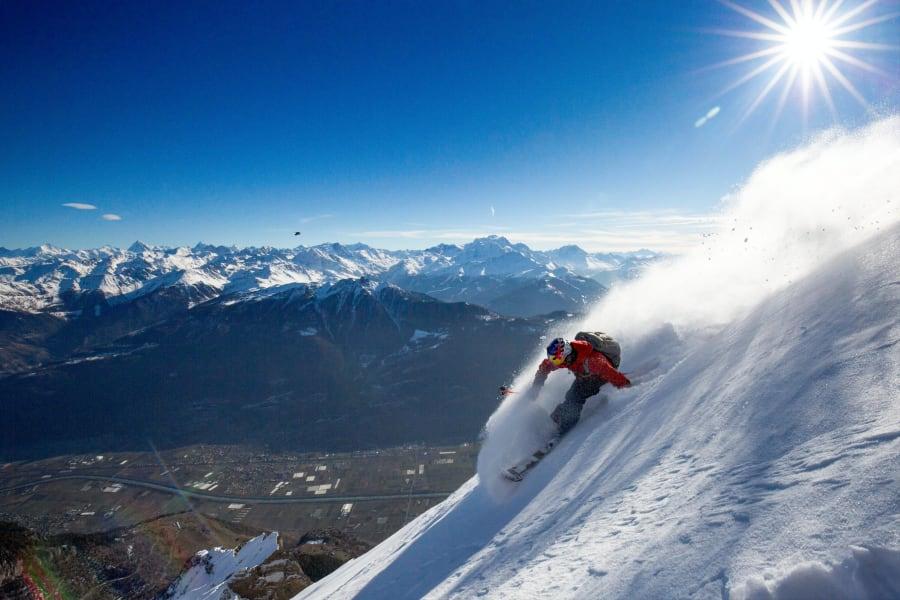 extreme skier jeremie heitz sunshine