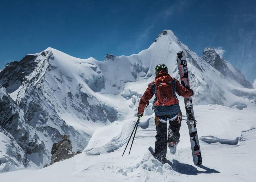 extreme skier jeremie heitz skis